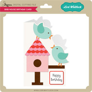 Bird House Birthday Card