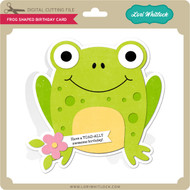 Frog Shaped Birthday Card