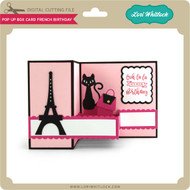 Pop Up Box Card French Birthday