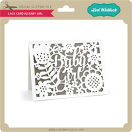 Lace Card A2 Baby Girl
