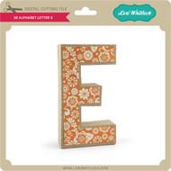 3-D Alphabet Letter E