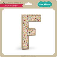 3-D Alphabet Letter F
