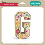 3-D Alphabet Letter G