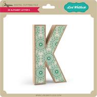 3-D Alphabet Letter K