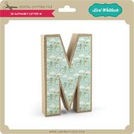 3-D Alphabet Letter M