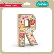 3-D Alphabet Letter R