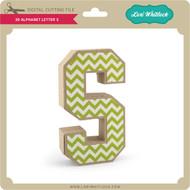 3-D Alphabet Letter S