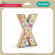 3-D Alphabet Letter X
