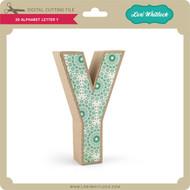 3-D Alphabet Letter Y