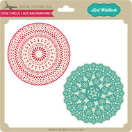 12X12 Circle Lace Background