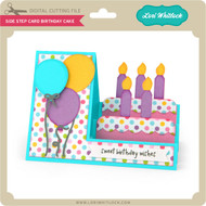 Side Step Card Birthday Cake