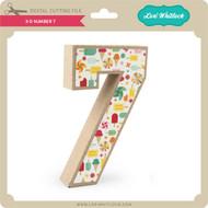 3-D Number 7