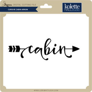 Cursive Cabin Arrow
