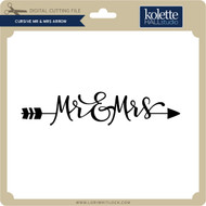 Cursive Mr & Mrs Arrow