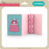 Pop Up Card with Flap Baby Girl