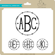 Monogram Full Arrow Font