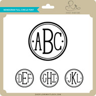 Monogram Full Circle Font