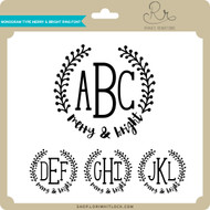 Monogram Type Merry & Bright Ring Font