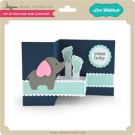 Pop Up Box Card Baby Elephant 2