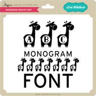 Monogram Giraffe Font