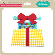 Present Shaped Gift Card Holder