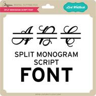 Split Monogram Script Font