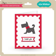 A2 Cutout Card Scottie Dog