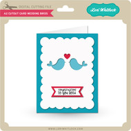 A2 Cutout Card Wedding Birds