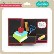 Pop Up Box Card School Books