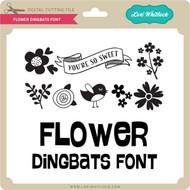 Flower Dingbats Font