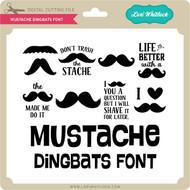 Mustache Dingbats Font