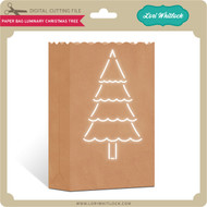 Paper Bag Luminary Christmas Tree