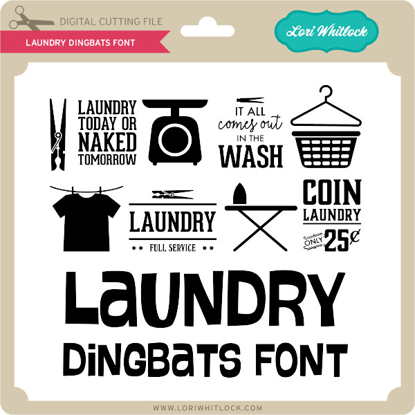 Laundry Dingbats Font