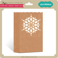 Paper Bag Luminary Snowflake