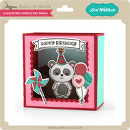 Shadow Box Card Scene Panda