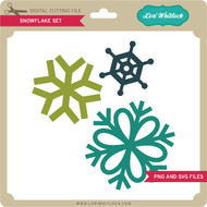 Snowflake Set PNG and SVG