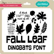 Fall Leaf Dingbats Font