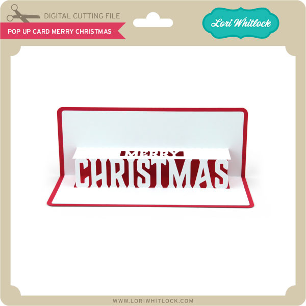 Pop Up Card Merry Christmas