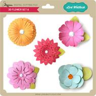 3D Flower Set 6