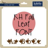 Fall Leaf Font