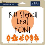 Stencil Leaf Font