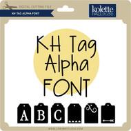 Tag Alpha Font