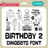 Birthday 2 Dingbats Font