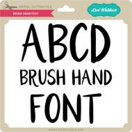 Brush Hand Font