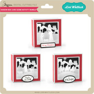 Shadowbox Card Scene Nativity Bundle