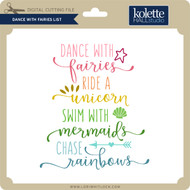 Dance With Fairies List