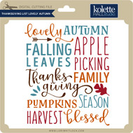 Thanksgiving List Lovely Autumn