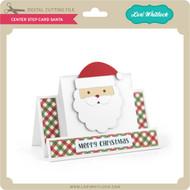 Center Step Card Santa