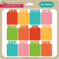 Life Card Months 3x4