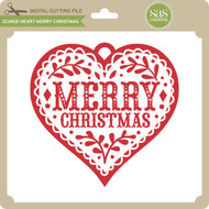 Scandi Heart Merry Christmas
